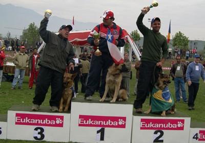 Podio Campeones Adiestramiento - Ganadores Categoria CG1