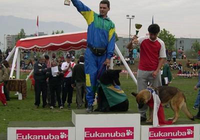 Podio Campeones Adiestramiento - Ganadores Categoria CG3